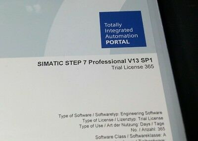 Siemens Step 7 Professional V13 sp1 trial license  365