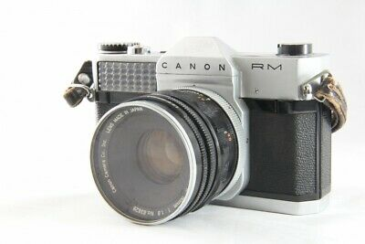 Exc Canon Canonflex RM 35mm SLR w/ Super Canomatic R 50mm F1.8 Lens #899
