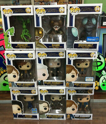 Funko Pop Crimes Of Grindelwald Vinyl Figure Lot Of 9 New In Box See Pics!