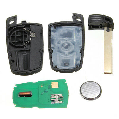 Car Keyless Entry Remote Uncut Blade Smart Key Fob Cover Kit For BMW KR55WK49127