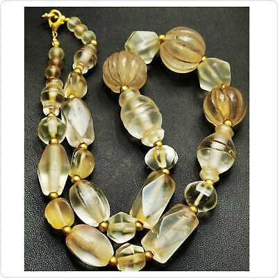 Beautiful Necklace With Ancient Roman Crystal stone BEADS  # 90