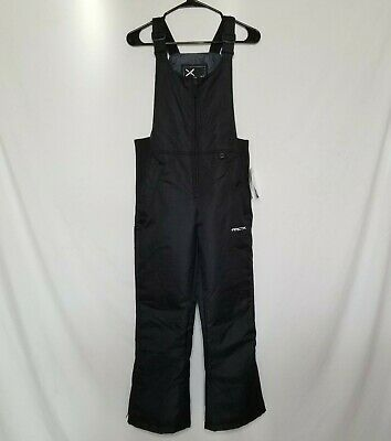 NWT Arctix Womens XS Short Insulated Bib Overalls Snow Pants Black Ski Winter