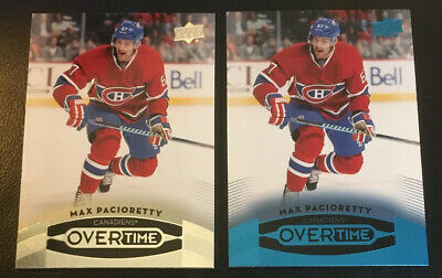 2015-16 Upper Deck Overtime Max Pacioretty Base & BLUE Parallel Canadiens! #5