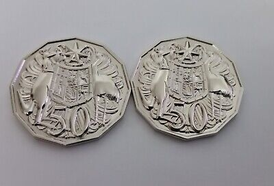 1967 & 1968 Australian pair 50c Fifty Cents FANTASY COINS / ALBUM SPACE FILLERS