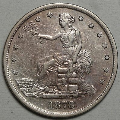 1878-S Trade Dollar, Almost Uncirculated, Classic Type Coin   0502-05