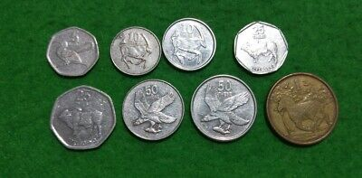 Botswana 8 different coins : Thebe & Pula