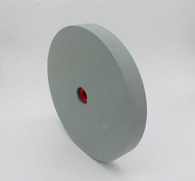 """8""""x1-1/2"""" 80Grit Lapidary Grinder Abrasive Green Silicon Carbide Grinding Wheel"""