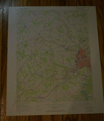 US Geological Survey USGS Topography Map; Vintage Map; Washington (West), PA