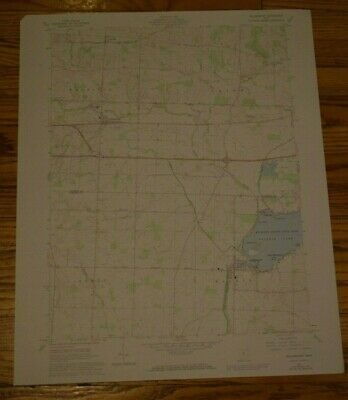 US Geological Survey USGS Topography Map; Vintage Map; Millersport, Ohio