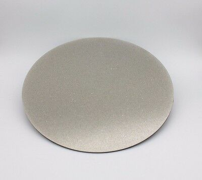 "8"" 600Grit Electroplated Diamond Flat Lap Lapidary Polishing Glass Facetor"