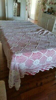 Crochet Hand Made Large Bed Spread/Table Cloth (007065) Ref Bacr