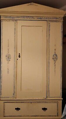 Original hand painted Edwardian Wardrobe