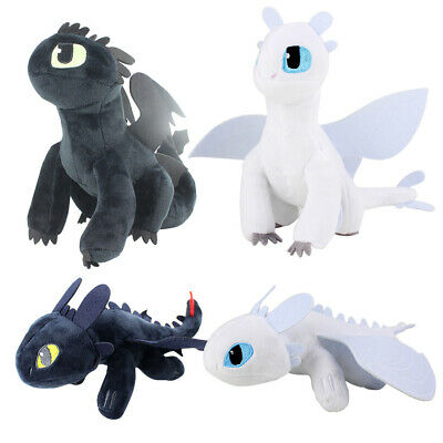 How To Train Your Dragon 3 Light Fury Plush Figure Toy Kid Stuffed Doll Gift
