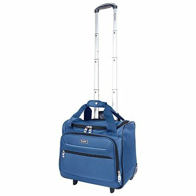 Ricardo Beverly Hills Santa Barbara Rolling Tote  Under Seat Carry-on Blue