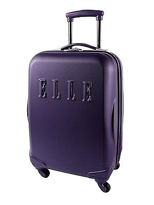 ELLE Abs Hardside 20-Inch, Purple, International Carry-on
