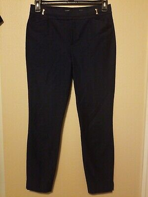 Ivanka Trump Navy Blue Slacks Pants Womens Size 6 Dry Clean Only Preowned