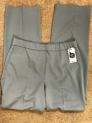 Express Womens Pants Size M Wide Leg High Rise Made To Move Gray MSRP $79 NWT