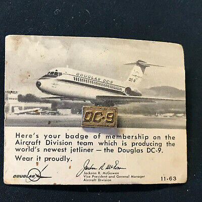 UNITED DC-10 AIRLINE MCDONNELL DOUGLAS PEWTER LAPEL HAT PIN UP MADE IN US GIFT