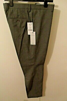 "NEXT Men's Grey Formal/Suit Trousers W38"" L31"" Skinny Fit Poly/Visc rrp £35 NEW"
