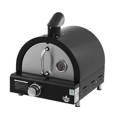 Grillz Portable Pizza Oven BBQ Camping LPG Gas Grill Cook Stove Stainless Stee