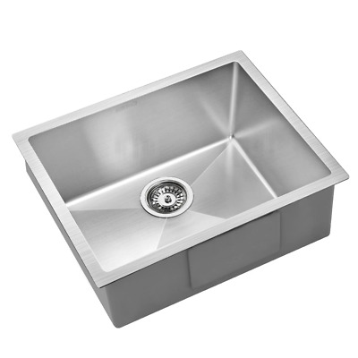 Cefito 540x440mm Stainless Steel Kitchen Laundry Sink Single Bowl Nano Silver