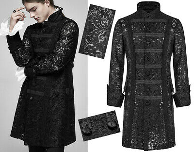 Embroidered lace coat jacket gothic baroque military victorian chic PunkRave Men
