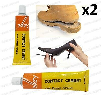 Contact Cement Glue Adhesive Rubber Leather Fabrics Sole Heel Shoe Repair