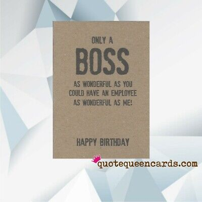 Happy Birthday Boss Card Have A Great Day Standard 5 X7