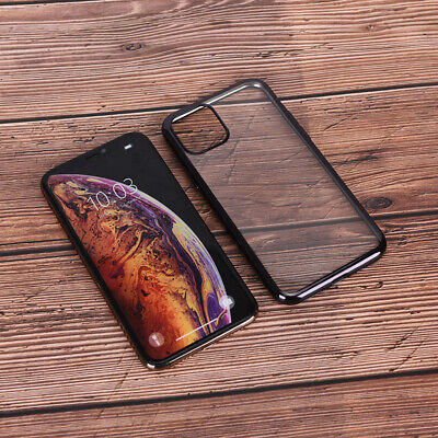 For iPhone 11 Pro XS Max XR 8 Ultra Thin Frameless Case Transparent Matte Co FR