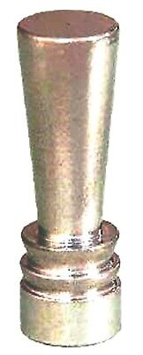 "Turned Brass Deco Style Finial W/ Nickel Plated Finish , 1 7/16"" Ht., #11085N"