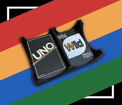 Card Game Holder Tray - Uno - Uno Tray - Dual Card Deck Holder