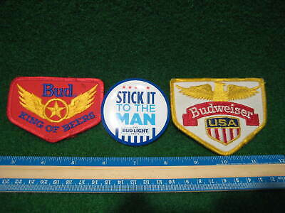 BUDWEISER BEER Patches and Button