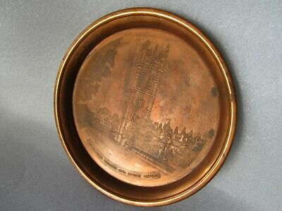 Magdalen College & Bridge Oxford England Derverlea Etched Copper Tray