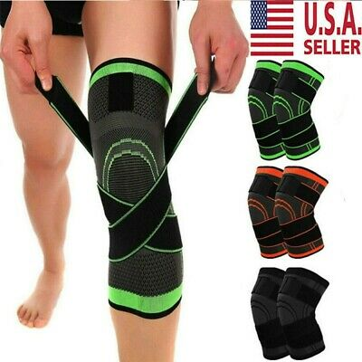 Knee Sleeve Compression Brace Patella Support Sports Gym Joint Pain Stabilizer