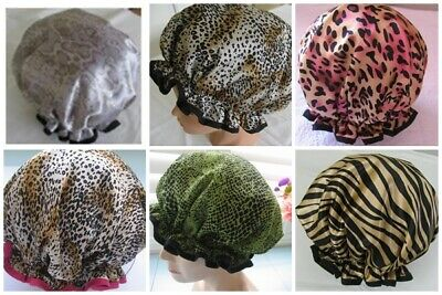Hand made Shower cap, WATER PROOF SELECT FROM 6 animal print DESIGNS