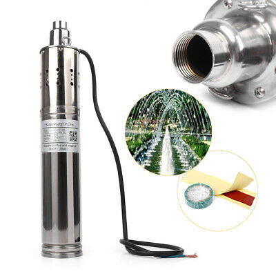 500W 24V DC 50M 3m³/H Brushless Solar Powered Submersible Deep Water Pump UK