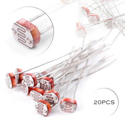 20pcs LDR Photoresistor CDS Light Dependent Sesor Resistor GL5516 Arduino 5mm