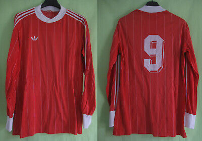 Maillot Adidas Ventex 80'S Rouge #9 Vintage Enfant Jersey Football Swiss - S