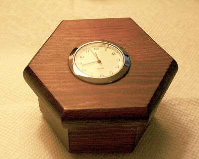 Wooden Curio Box with Quartz Clock