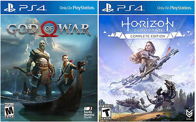 God Of War and Horizon Zero Dawn Complete Playstation 4 Digital Code  Card