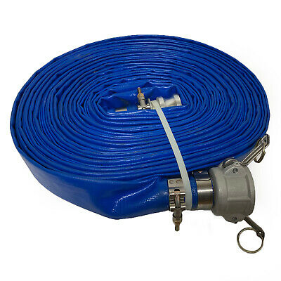 Water Discharge Hose , Blue 1.5 in. X 100 ft. Hose Kit w/ Cam-Lock Connections