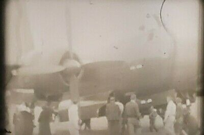 Vintage 8mm Home Movie Film 1950's - 60's B&W TO COLOR MILITARY PLANES OLD CARS