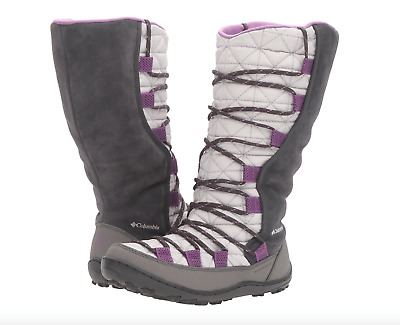 Columbia Youth Loveland Omni-Heat Boots Big Girls Sz 1 NEW Warm Winter Cool Grey