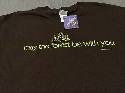 May The Forest Be with You Tshirt Earth Sun Moon Gildan M star wars trees nature