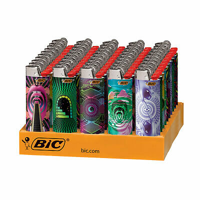 BIC Special Edition Prismatic Series Lighters, 50-Count Tray Brand New Free Ship