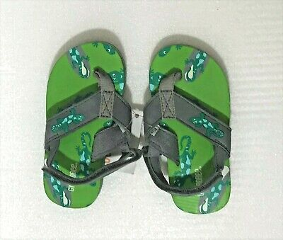 GYMBOREE SWIM SHOP BLUE SHARK FLIP FLOPS 5 6 7 8 NWT