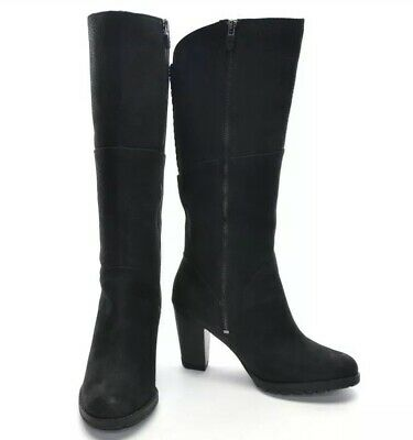 8 TIMBERLAND Stratham Heights Black Leather Womens Heeled