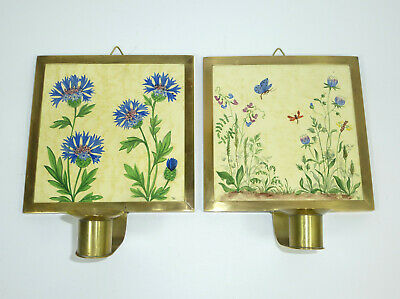 Old Wall Mounted Candle Holder Candle Holder Ilse Woe Tile Tiles Signed