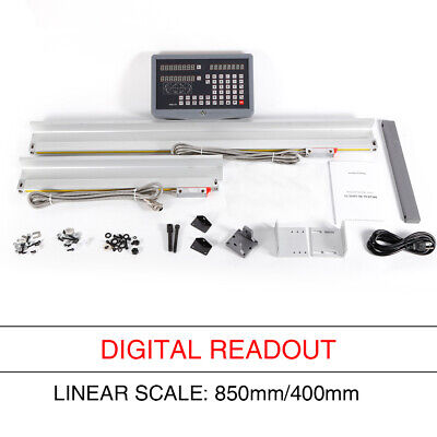 2 Axis Digital Readout Good LCD Display DRO for Milling Lathe 800+450MM US Ship