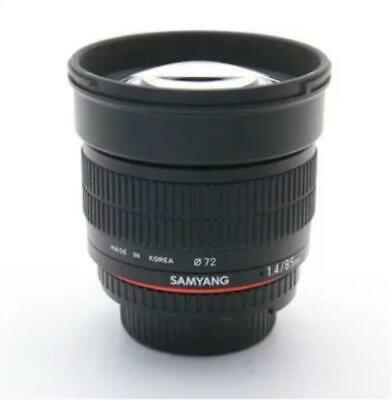 Used SAMYANG 85mm F1.4 AS IF UMC for NikonLimited Good condition Genuine Jap